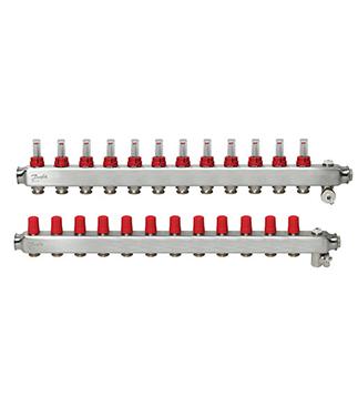 Danfoss - SSM Manifold Debimetreli Çelik Kollektör Seti 12 Ağızlı